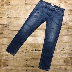 Paige Jeans Skyline Ankle Peg Medium Wash Skinny